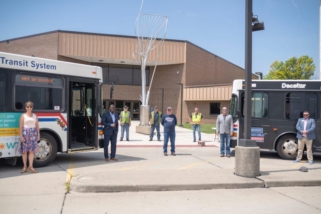 Decatur Transit and Richland Community College Bus Donation