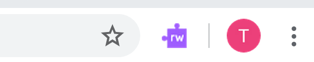 Click on the purple puzzle piece icon in the upper right-hand corner to activate the extension (this may take a while the first time)