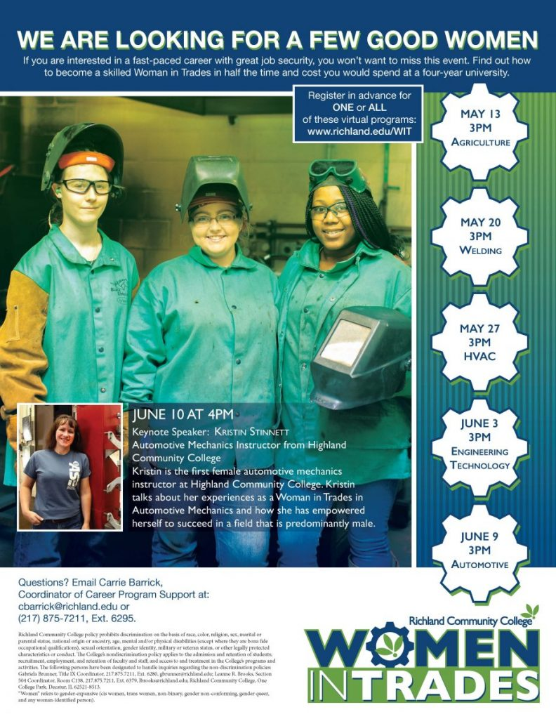 Women In Trades Series at Richland