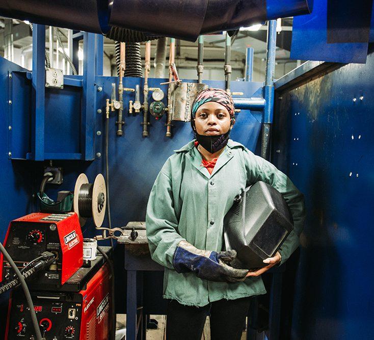 Student in welding gear aspect ratio 682 620